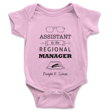 Load image into Gallery viewer, Assistant To The Regional Manager Baby Onesie - Brain Juice Tees