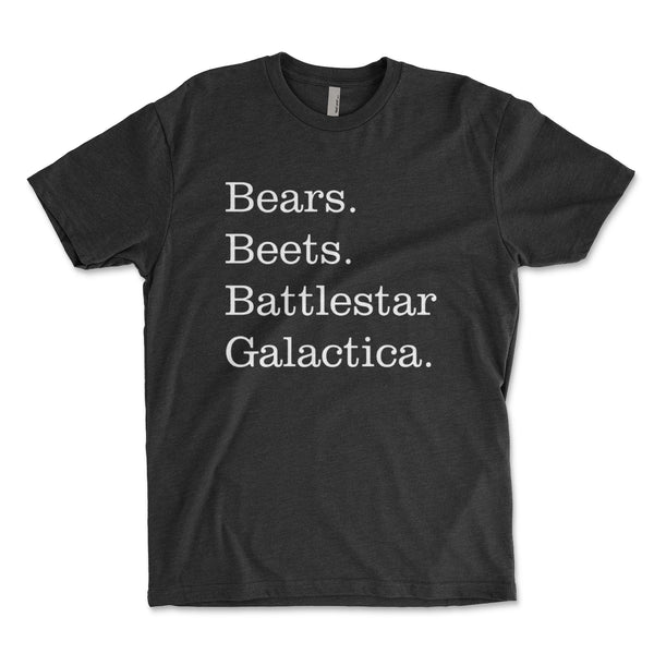 Bears Beets Battlestar Galactica Men's Shirt - Brain Juice Tees