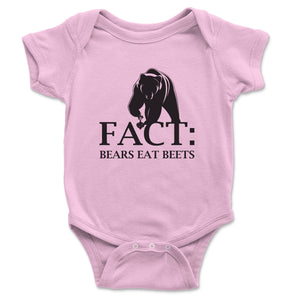 Fact Bears Eat Beets Baby Onesie - Brain Juice Tees