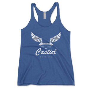 Protected By Castiel Women's Tank Top - Brain Juice Tees