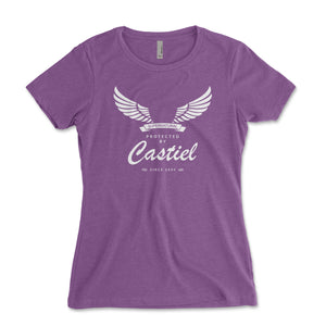 Protected By Castiel Women's Shirt - Brain Juice Tees