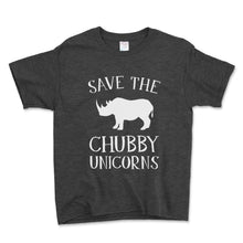 Load image into Gallery viewer, Save The Chubby Unicorns Unisex Toddler Shirt - Brain Juice Tees