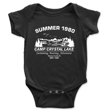 Load image into Gallery viewer, Camp Crystal Lake Baby Onesie - Brain Juice Tees