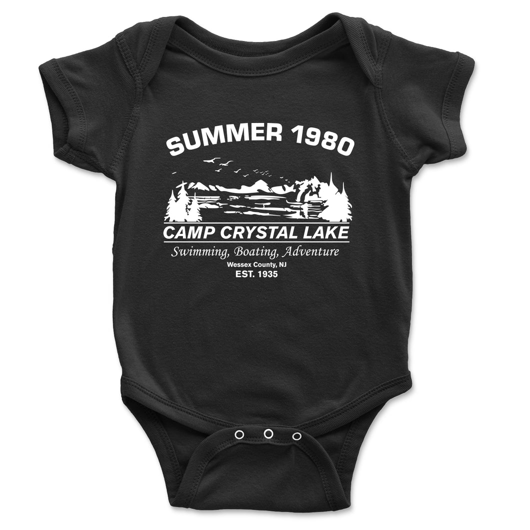 Camp Crystal Lake Baby Onesie - Brain Juice Tees