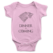 Load image into Gallery viewer, Dinner Is Coming Baby Onesie - Brain Juice Tees