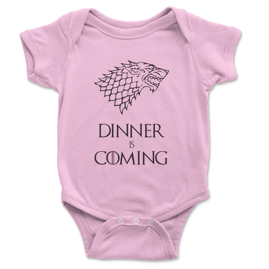 Dinner Is Coming Baby Onesie - Brain Juice Tees
