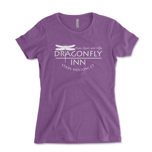 Dragonfly Inn Gilmore Girls Junior Fit Womens Shirt - Brain Juice Tees