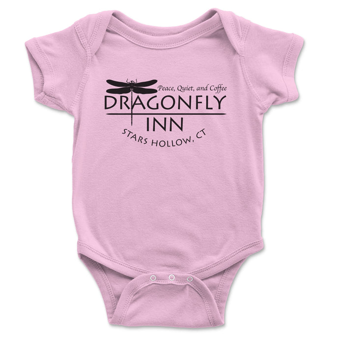 Dragonfly Inn Baby Onesie - Brain Juice Tees