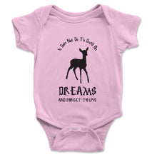 Load image into Gallery viewer, It Does Not Do To Dwell On Dreams Dumbledore Baby Onesie - Brain Juice Tees