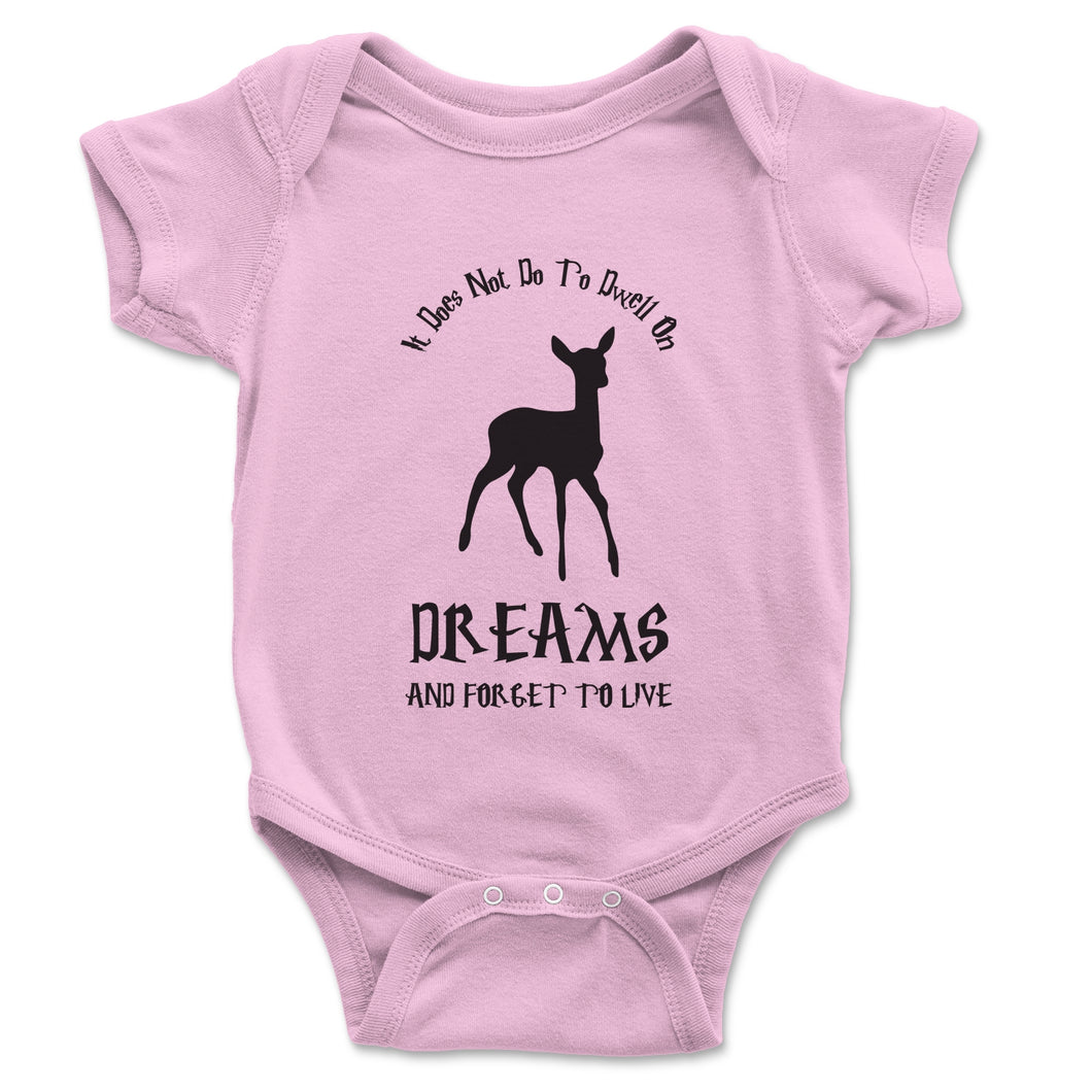 It Does Not Do To Dwell On Dreams Dumbledore Baby Onesie - Brain Juice Tees