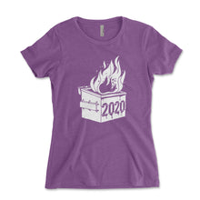 Load image into Gallery viewer, 2020 Dumpster Fire Women's Shirt