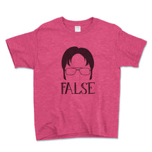 Load image into Gallery viewer, Dwight Schrute False Unisex Toddler Shirt - Brain Juice Tees
