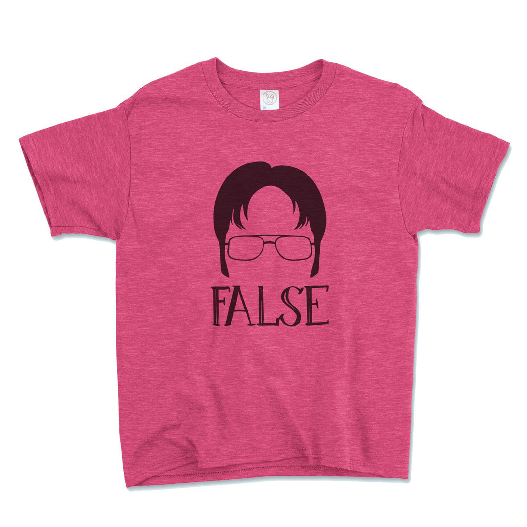 Dwight Schrute False Unisex Toddler Shirt - Brain Juice Tees