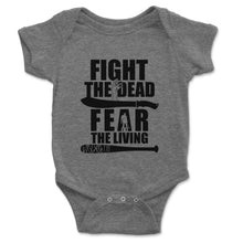 Load image into Gallery viewer, Fight The Dead Fear The Living Baby Onesie - Brain Juice Tees