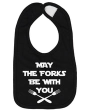 Load image into Gallery viewer, May The Forks Be With You Baby Bib