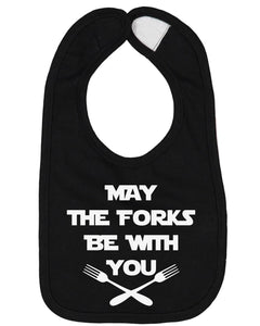 May The Forks Be With You Baby Bib