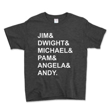 Load image into Gallery viewer, Jim And Dwight And Michael Unisex Toddler Shirt - Brain Juice Tees