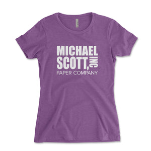 Michael Scott Paper Company Women's Shirt - Brain Juice Tees