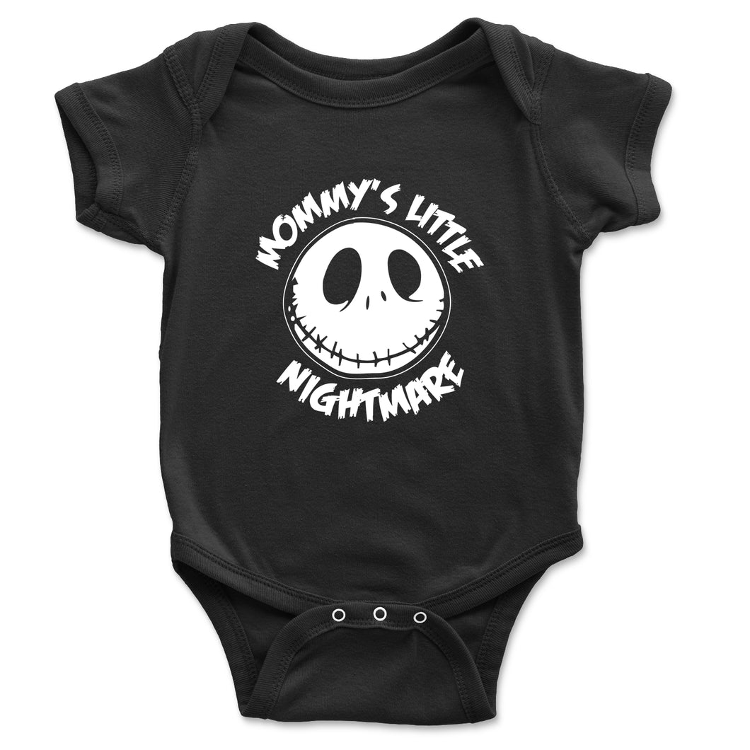 Mommy's Little Nightmare Baby Onesie - Brain Juice Tees