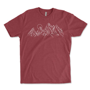Mountain Contours Men's Shirt