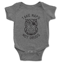 Load image into Gallery viewer, Take Naps Not Drugs Baby Onesie - Brain Juice Tees