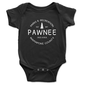 Pawnee Parks And Recreation Baby Onesie - Brain Juice Tees