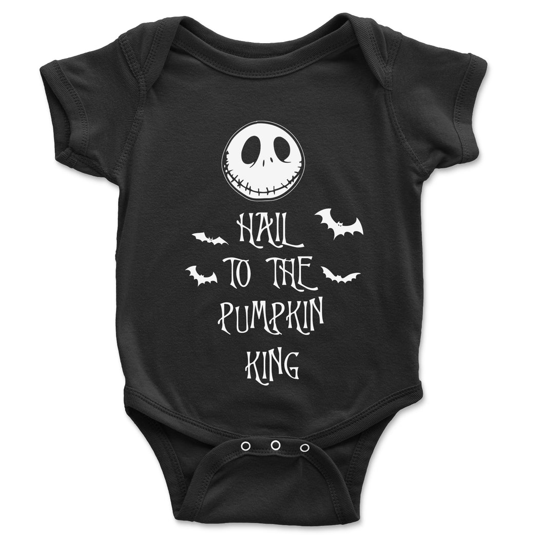 Hail To The Pumpkin King Baby Onesie - Brain Juice Tees