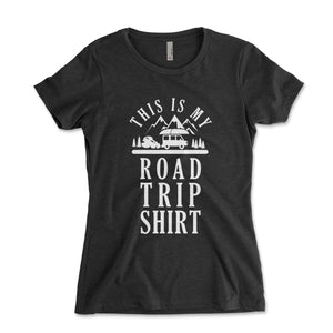 This Is My Road Trip Shirt Womens Junior Fit Shirt - Brain Juice Tees