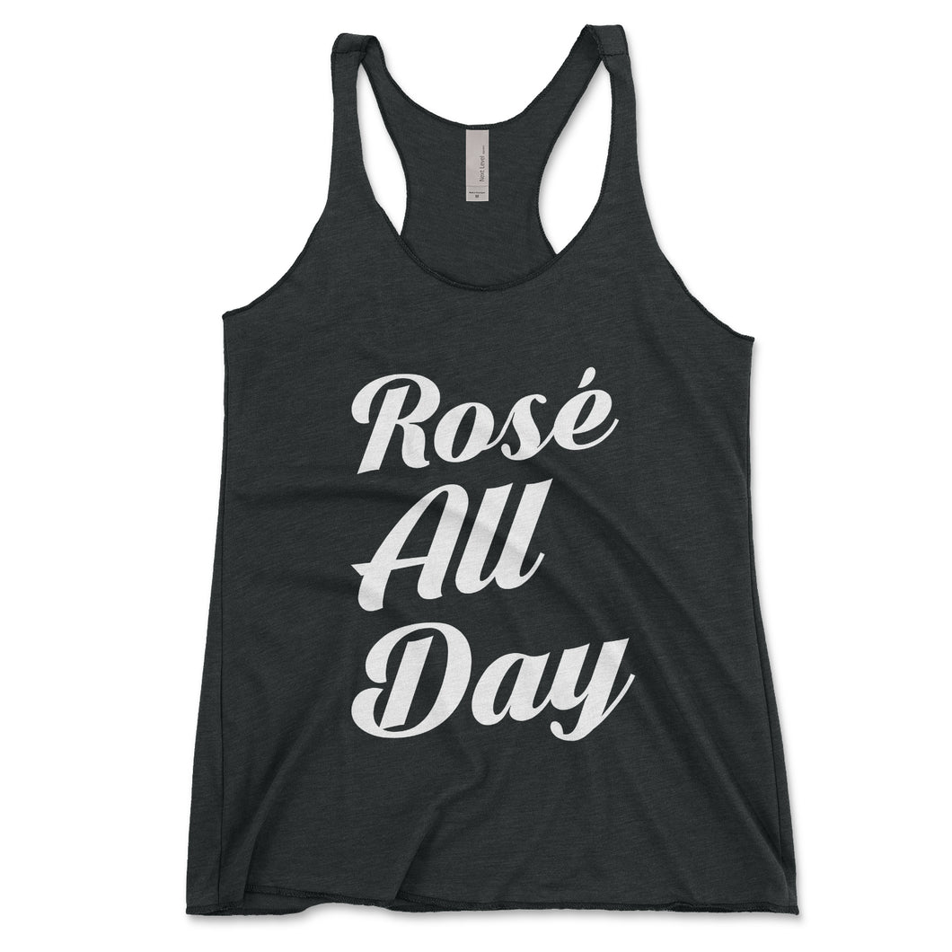 Rosé All Day Women's Tank Top - Brain Juice Tees