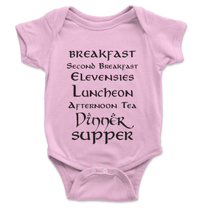 Second Breakfast Baby Onesie - Brain Juice Tees