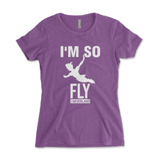 Load image into Gallery viewer, I'm So Fly I Neverland Women's Shirt - Brain Juice Tees