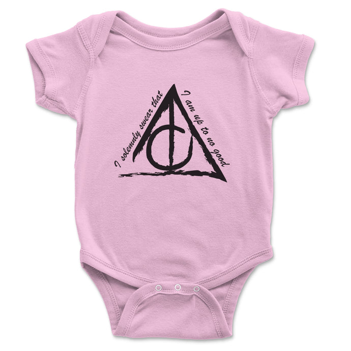 I Solemnly Swear That I Am Up To No Good Baby Onesie - Brain Juice Tees