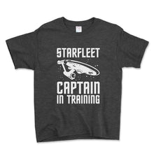 Load image into Gallery viewer, Starfleet Captain In Training Unisex Toddler Shirt - Brain Juice Tees