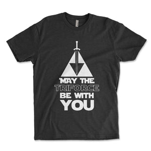 May The Triforce Be With You Men's Shirt - Brain Juice Tees