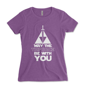 May The Triforce Be With You Women's Shirt - Brain Juice Tees