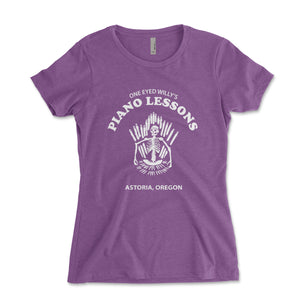 One Eyed Willy's Piano Lessons Women's Shirt - Brain Juice Tees