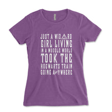 Load image into Gallery viewer, Just A Wizard Girl Living In A Muggle World Women's Shirt - Brain Juice Tees