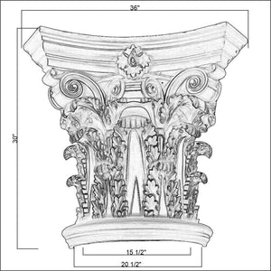 Corinthian Column Capital 20""