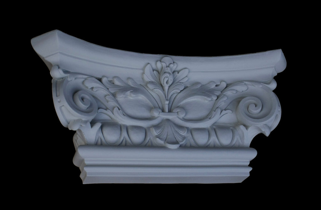 Ionic Flat Pilaster Capital 14""