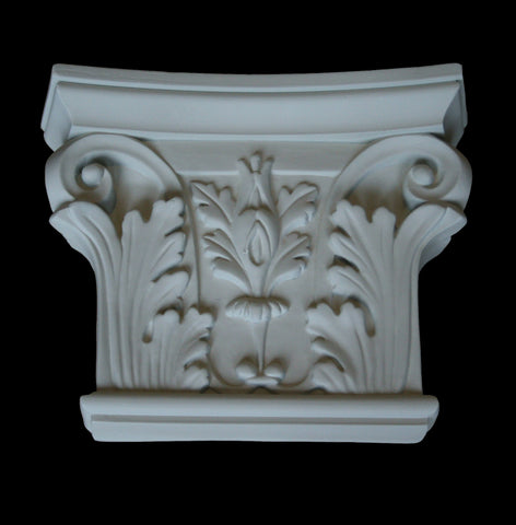 Leaf Flat Pilaster Capital 8""