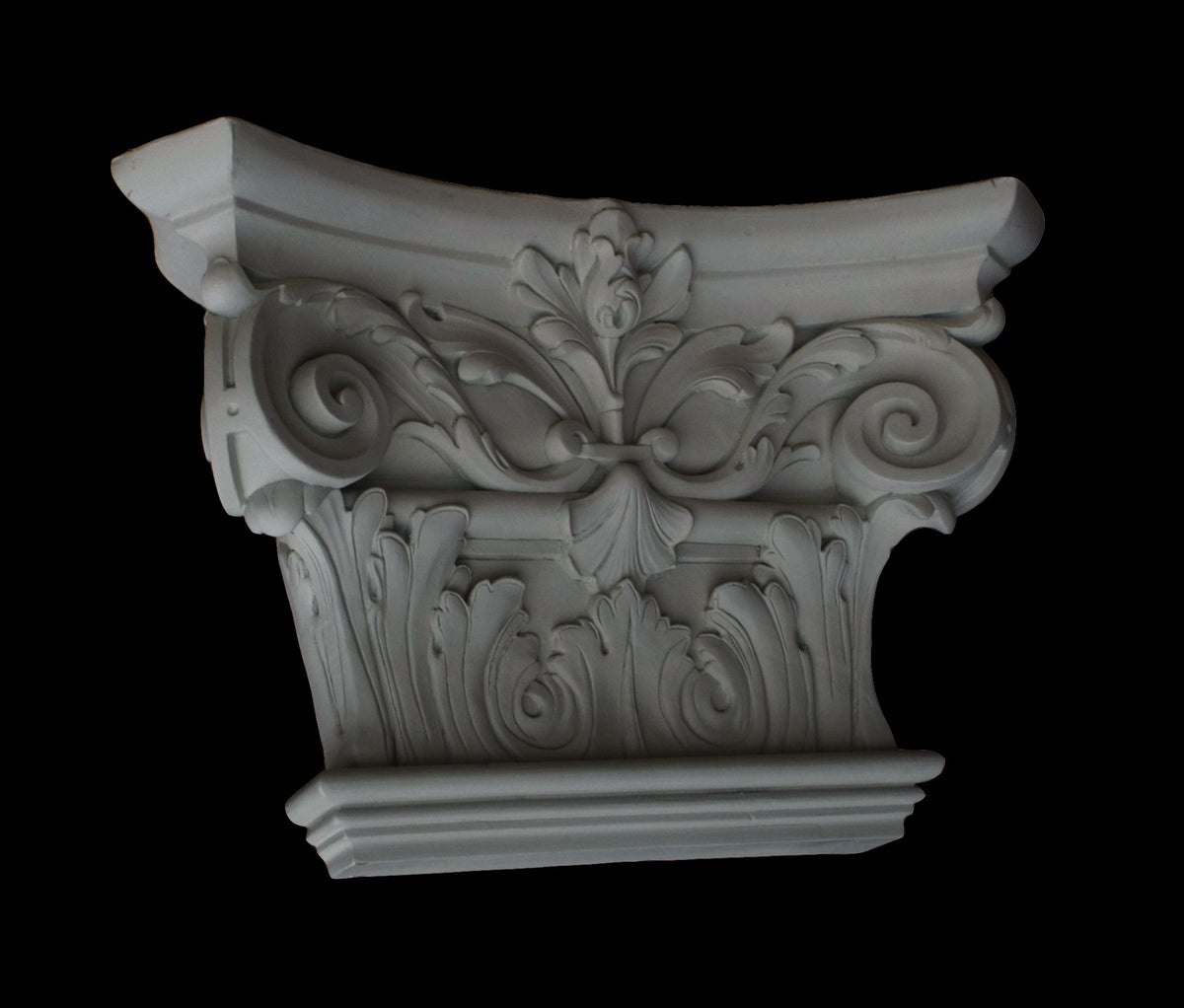 Ionic Flat Pilaster Capital 12""