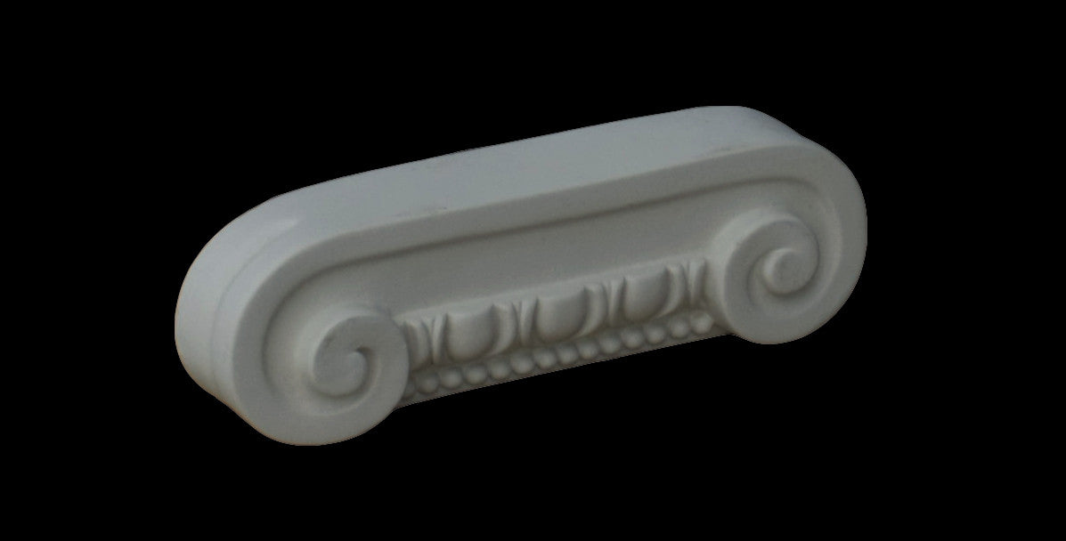 Ionic Flat Pilaster Capital 8""