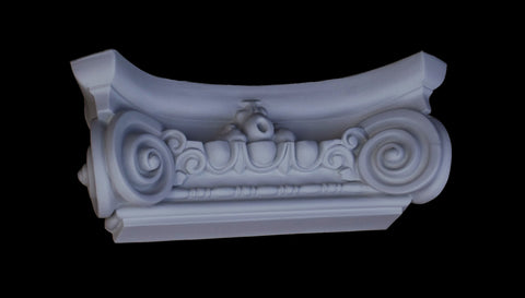 Ionic Flat Pilaster Capital 10""