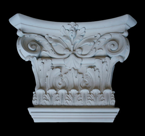 Leaf Flat Pilaster Capital 12""