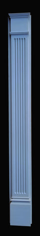 Flat Fluted Pilaster Plain with backboard