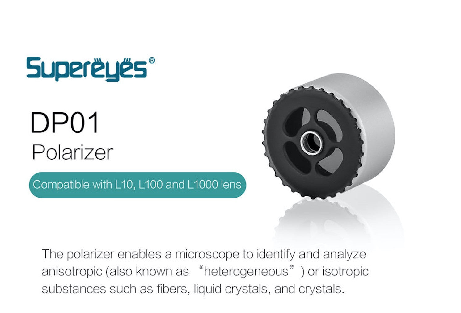 Supereyes DP01 Polarizer Compatible with L10, L100 and L1000 Lenses
