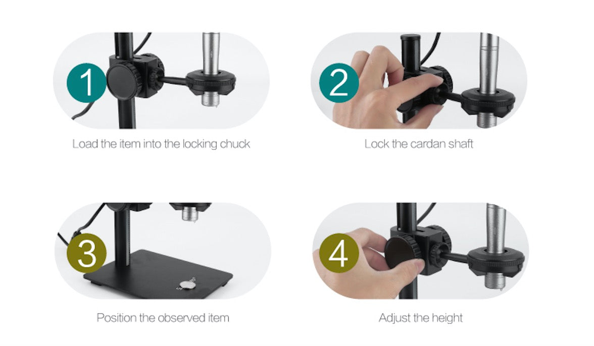 Z008 Microscope Portable Stand Adjustable Precision USB Microscope Stand for Digital Microscope Otoscope