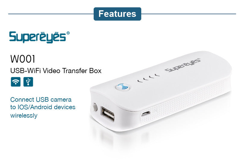 Supereyes W001 USB-WiFi Video Transfer Box
