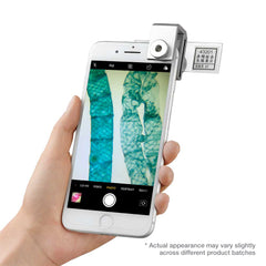 Digital Microscope Camera Attachment w// 75x Magnification /& Universal Fit for All iOS-Android Cellphones Supereyes Smartphone Microscope Lens Adapter LED Light Illumination Pocket