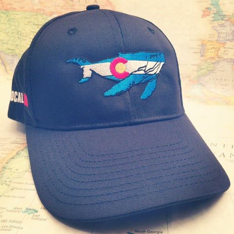 Colorado Whale Baseball Hat - Colorado Ocean Coalition